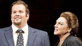 Garrett Sorenson as Anthony Candolino and Tyne Daly as Maria Callas in Master Class.
