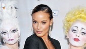 Zarkana opening night – Selita Ebanks and clowns