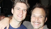 Aaron Tveit and Norbert Leo Butz are delighted to celebrate their first 100 Broadway performances.