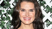 Brooke Shields arrives at her opening night party dressed in Morticia's signature color: black!