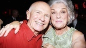 Tyne Daly throws an arm around playwright Terrence McNally. Be sure to attend Master Class at the Samuel J. Friedman Theatre!