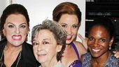 All we can say is, wow! Tyne Daly, Zoe Caldwell, Sierra Boggess and Audra McDonald celebrate their former and current roles in Terrence McNallys Master Class.
