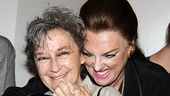 Awww! Zoe Caldwell and Tyne Daly bond over their shared legacy as stars of Master Class.