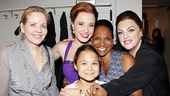 Real-life opera great Renee Fleming steps in for a shot with Sierra Boggess, Audra McDonald, Tyne Daly and Audras beautiful 10-year-old daughter, Zoe Donovan.