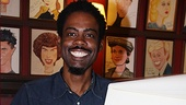 Chris Rock is all smiles as he receives his very own Sardi's portrait. Not bad for his Broadway debut!