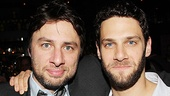 &lt;i&gt;All New People&lt;/i&gt; Opening Night  Zach Braff  Justin Bartha 