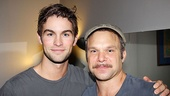 Chace Crawford says hello to Aaron Tveit's co-star, Tony winner Norbert Leo Butz.