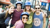 Hair Cast at Mets Game – Laura Dreyfuss – Paris Remillard – Matt De Angelis – Steel Burkhardt – Emmy Raver-Lampman
