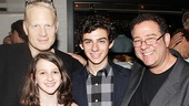 Opening night of <i>Rent</i> - Michael Greif and family