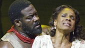 Phillip Boykin as Crown and Audra McDonald as Bess in Porgy and Bess.