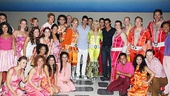 Novak Djokovic and Rafael Nadal at Mamma Mia  group shot