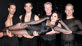 Kara DioGuardi vamps it up with her co-stars (Adam Zotovich, Peter Nelson, Brian O'Brien and Ryan Worsing.)