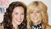 A mother-daughter shot of Broadway stars Liana Hunt (Sophie) and Lisa Brescia (Donna) as they arrive for the sing-along screening of Mamma Mia!