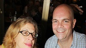 The Addams Family's Jackie Hoffman and Brad Oscar get kooky at the Flea Market autograph table.