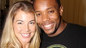 Morgan James cozies up to co-star Wallace Smith, who plays Judas.