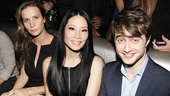Rachel Griffiths, Lucy Liu and Daniel Radcliffe enjoy the evening's festivities.