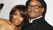 After discussing heavy issues on stage, Angela Bassett and Samuel L. Jackson are ready to let loose at their opening night party. 