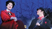 Rachel Wallace as Mary Poppins and Nicolas Dromard as Bert in the national tour of Mary Poppins.