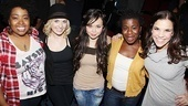 Godspell reunion  Celisse Henderson  Julia Mattison  Anna Marie Perez de Tagle  Uzo Aduba  Lindsay Mendez