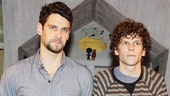 Close friends in real life, Justin Bartha and Jesse Eisenberg get to play roommates on stage in Asuncion.