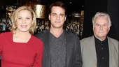 Director Richard Eyre joins Private Lives' glamorous stars Kim Cattrall and Paul Gross.