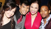 Anna Maria Perez de Tagle, Telly Leung, Lindsay Mendez and Wallace Smith are ready to spread the word of Godspell eight times a week now that the show is officially open.