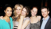 Nina Arianda gets a group hug from former NYU classmates Zoey Martinson, Katie Meister and Julie Sharbutt, plus Bengal Tiger at the Baghdad Zoo alum Brad Fleischer.