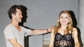 Ta-da! Hugh Dancy gives props to leading lady Nina Arianda.