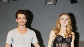 Venus in Fur stars Hugh Dancy and Nina Arianda step forward to soak in an opening night standing ovation.