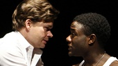 Hunter Foster and Vladimir Versailles in Burning.