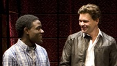 Vladimir Versailles, Hunter Foster, Larisa Polonsky and Stephen Tyrone Williams in Burning.