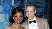 Dont these two look great together? Montego Glover and Adam Pascal are all smiles after a Saturday night performance of Memphis. 