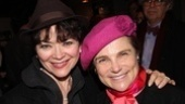 Catch Me If You Can veteran Linda Hart and opening night regular Tovah Feldshuh say hello to our camera.