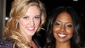 Leading ladies Taylor Louderman and Adrienne Warren look simply stunning on opening night.