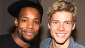 Judas and Jesus reporting for duty! Wallace Smith and Hunter Parrish are ready to lay down some tracks.
