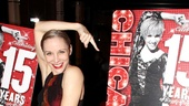 Charlotte d'Amboise (live and on a Chicago poster) is one of Broadway's most beloved Roxie Harts.