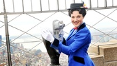 Mary Poppins Steffanie Leigh heads to the top of the Empire State Building to take in the Supercalifragilisticexpialidocious view.