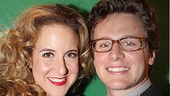 Jenn Harris welcomes Jonathan Groff to opening night of Silence!