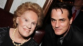 Tony-winning Private Lives veteran Tammy Grimes congratulates the current production's dapper leading man, Paul Gross.