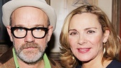 Kim Cattrall grabs a photo with opening night guest Michael Stipe.