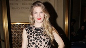 Let's pause for a fashion shot of Lily Rabe, looking awesome in Prabal Gurung.
