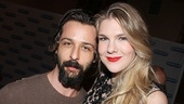 Jeremy Strong congratulates Lily Rabe on a terrific opening night performance.