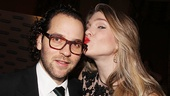 Lily Rabe plants a scarlet smack on her director, Sam Gold.