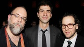 Scenic and costume designer David Zinn gets a party pic with Hamish Linklater and director Sam Gold.