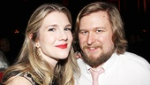 Lily Rabe is greeted by actor pal Michael Chernus, soon to be seen in Close Up Space at MTC.
