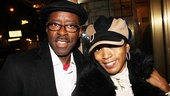 On her night off from The Mountaintop, Angela Bassett arrives with her actor husband, Courtney B. Vance. Nice hats!