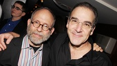 Actor/director Bob Balaban congratulates Mandy Patinkin.
