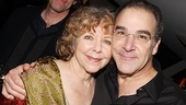 Mandy Patinkin gives his lovely wife, actress and writer Kathryn Grody, an opening night hug.