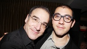 A sweet shot of Mandy Patinkin and his son Gideon. 