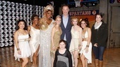 After watching them train in basketball camp, Chris Mullin, joined by his daughters, is proud to see the ladies of Lysistrata Jones keep up the hustle on Broadway.